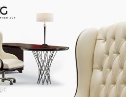 صندلی گردان کلاسیک + میز گرد چوبی
