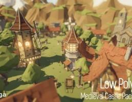 قلعه قرون وسطی Low Poly