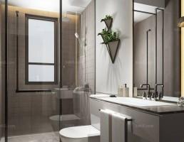 صحنه داخلی حمام و توالت مدرن 9