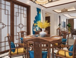 آشپزخانه و غذاخوری  سبک چینی 16