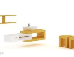 صندلی + باکس + روشویی