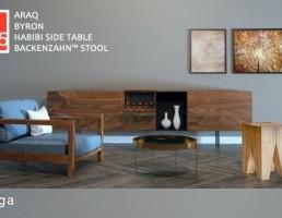 میز تلویزیون + مبل راحتی + میز عسلی + قاب عکس چوبی