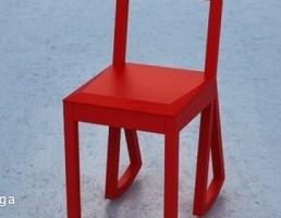 صندلی چوبی پایه متحرک