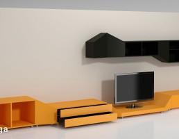 ست میز تلویزیون چوبی