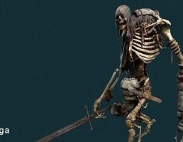 کاراکتر اسکلت باستانی جنگجو