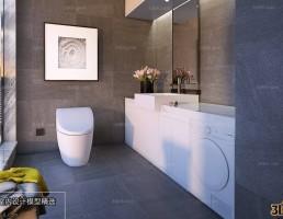 صحنه داخلی حمام و توالت مدرن 5