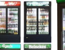 یخچال ویترینی فروشگاه + بطری نوشیدنی