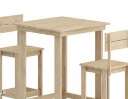 صندلی چوبی + میز قهوه