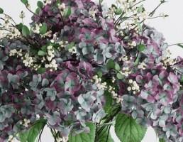 گلدان و گل طبیعی