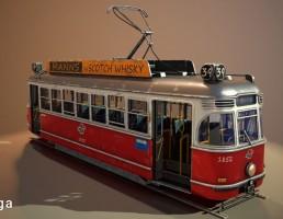 اتوبوس Stylized tram