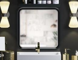 ست آینه و روشویی مدرن