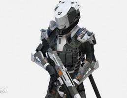 کاراکتر سرباز Sci-Fi