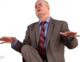 کاراکتر مرد نشسته در حال صحبت-low poly