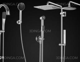 مدل سه بعدی دوش های حمام