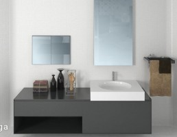 آینه + روشویی حمام
