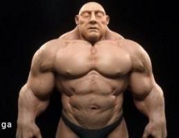 کاراکتر مرد عضلانی