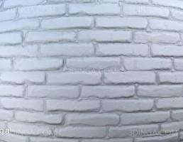 تکسچر آجر سفید رنگ شده