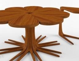 میز چوبی + میز عسلی
