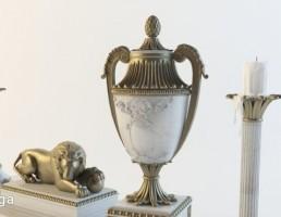 شمعدان + جام + مجسمه کلاسیک