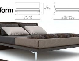 تختخواب مدرن Poliform