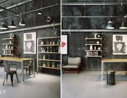 نمای داخلی اتاق کار