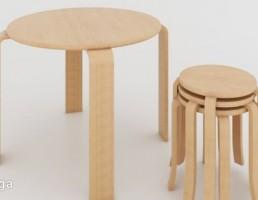 ست میز و صندلی چوبی