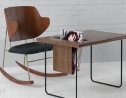 میز + صندلی چوبی اداری
