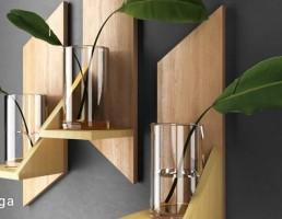 باکس چوبی + گلدان