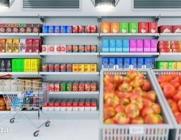 نمای داخلی سوپر مارکت
