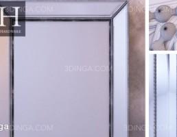 آینه دیواری فلزی