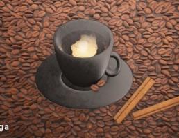 پانل به شکل فنجان قهوه