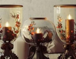 شمع + شمعدان مدرن