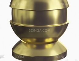 مدل سه بعدی طلای براق