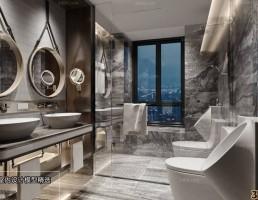 صحنه داخلی حمام و توالت مدرن 2