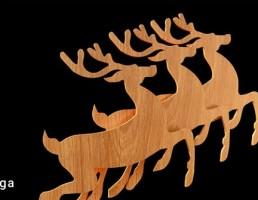 گوزن چوبی تزیینی