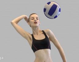 کاراکتر زن والیبالیست