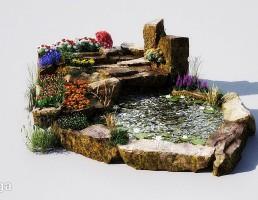 حوضچه باغ