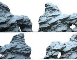 تخته سنگ در زمستان