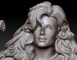 مجسمه زن قهرمان
