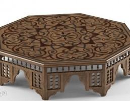 میز قهوه چوبی کلاسیک