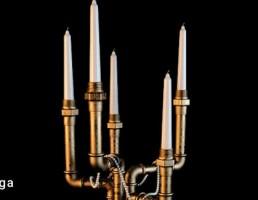 شمع + شمعدان تزیینی
