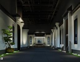 صحنه داخلی  معبد چینی