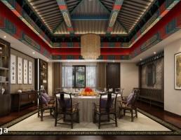 نمای داخلی سالن غذا خوری چینی
