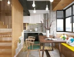 آشپزخانه و غذاخوری  سبک شمالی 5