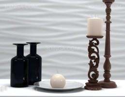 گلدان + شمع + شمعدان تزیینی