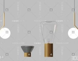 مدل سه بعدی لامپ مدرن