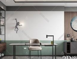 صحنه داخلی اتاق کار مدرن