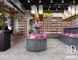 صحنه داخلی فروشگاه پست مدرن جواهرات