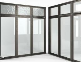 پنجره فلزی مدرن