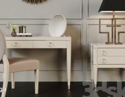 میز لوازم آرایش + صندلی + پاتختی
